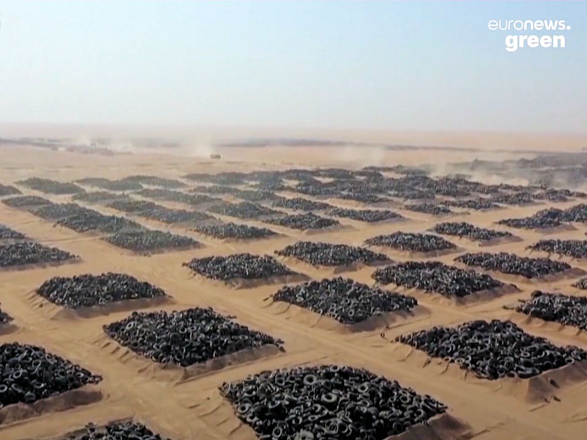 Kuwait recycling 42 million dumped tyres