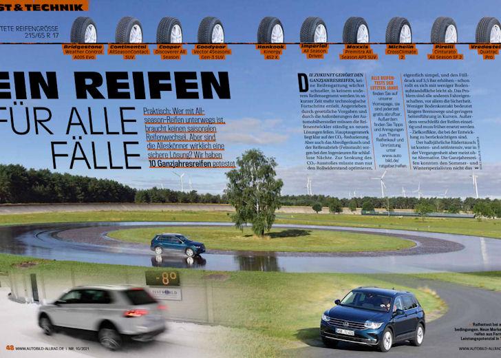 Auto Bild Allrad: 2021 all-season tyre test