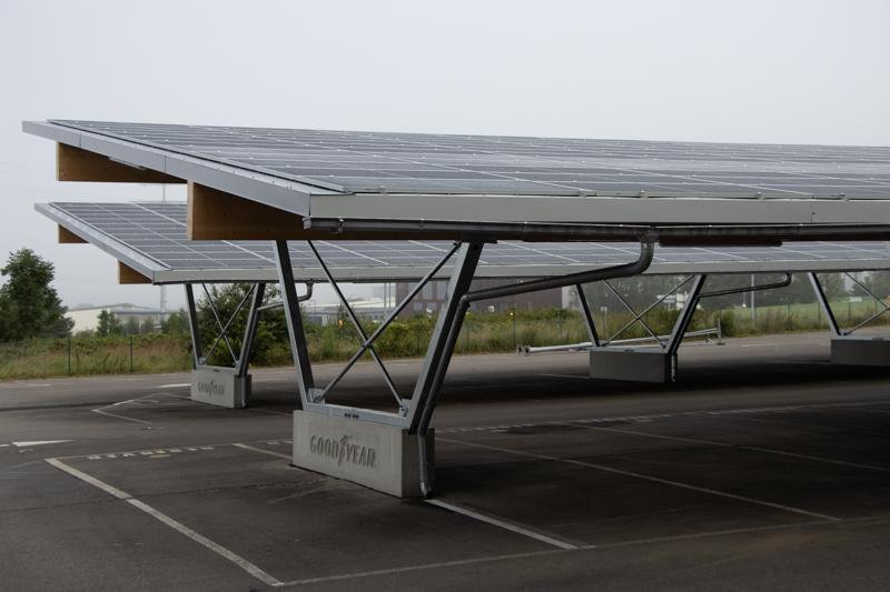 Goodyear completes solar carport at Colmar-Berg