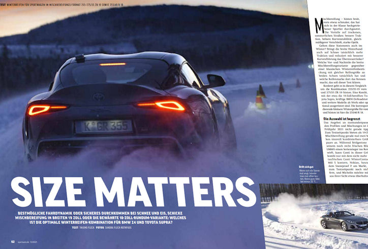 Size matters: Sportauto winter tyre test