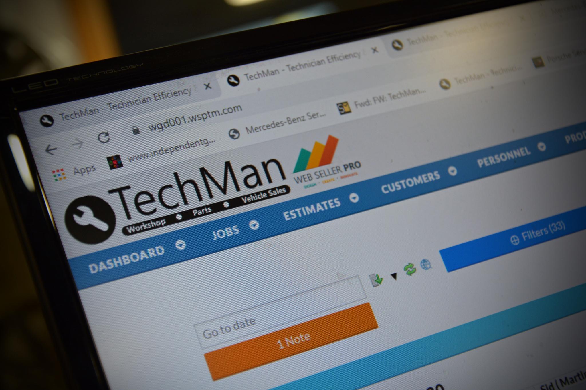 New TechMan website reflects Garage Management System development