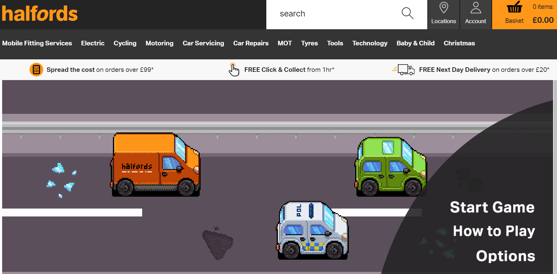 Halfords launches video game during Tyre Safety Month